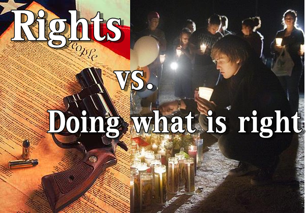 "gun control vs gun rights The democratic views on gun control are centered around the belief that ""the right to own firearms is  i respect the rights of lawful gun owners to own."