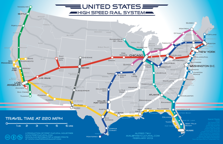 High-Speed Rail National Map